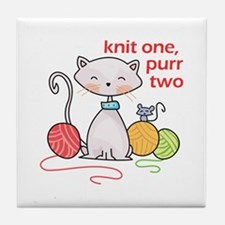 KNIT ONE PURR TWO Tile Coaster