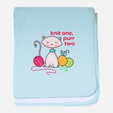 KNIT ONE PURR TWO baby blanket