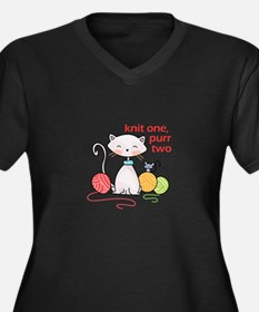 KNIT ONE PURR TWO Plus Size T-Shirt