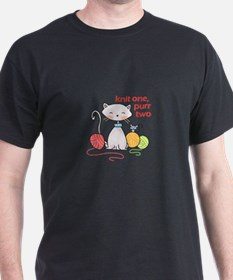 KNIT ONE PURR TWO T-Shirt