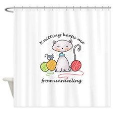 UNRAVELING Shower Curtain