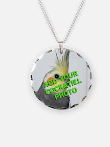 Custom Cockatiel Photo Necklace Circle Charm