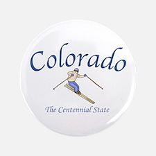"""Colorado The Centennial State 3.5"""" Button"""
