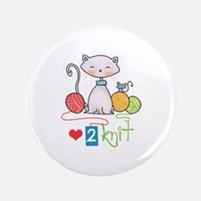 """LOVE TO KNIT 3.5"""" Button"""