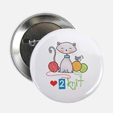 """LOVE TO KNIT 2.25"""" Button (10 pack)"""