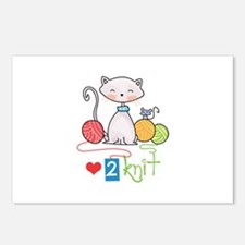 LOVE TO KNIT Postcards (Package of 8)