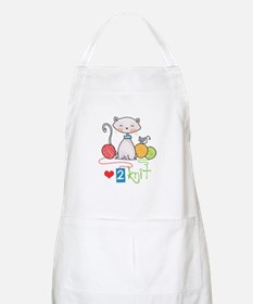 LOVE TO KNIT Apron