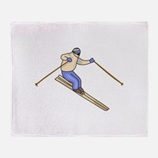 Skier Throw Blanket