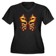 Twin Dragons Plus Size T-Shirt