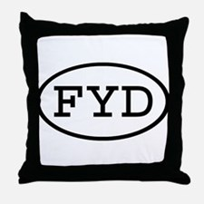 FYD Oval Throw Pillow