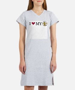 Custom I Love My Women's Nightshirt