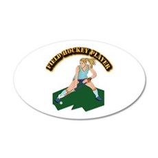 Field Hockey Player With Tex Wall Decal