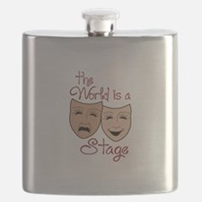 THE WORLD IS A STAGE Flask