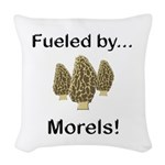 Fueled by Morels Woven Throw Pillow