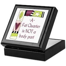 A FAT QUARTER Keepsake Box