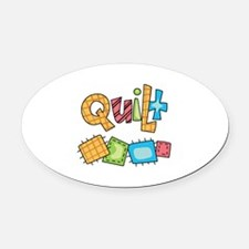 QUILT Oval Car Magnet