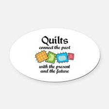 QUILTS CONNECT Oval Car Magnet