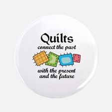 "QUILTS CONNECT 3.5"" Button"