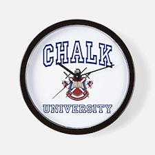 CHALK University Wall Clock