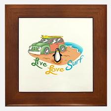 LIVE LOVE SURF Framed Tile