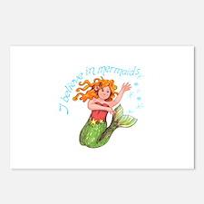 I BELIEVE IN MERMAIDS Postcards (Package of 8)