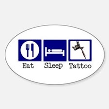 Eat, Sleep, Tattoo Oval Decal
