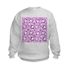 Owls Wallpaper,purple Sweatshirt