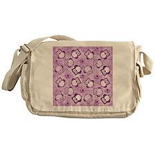 Owls Wallpaper,purple Messenger Bag