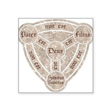 """Cute Holy father Square Sticker 3"""" x 3"""""""