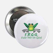 """FULLY RELY ON GOD 2.25"""" Button (10 pack)"""