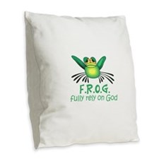 FULLY RELY ON GOD Burlap Throw Pillow
