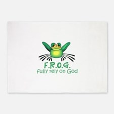 FULLY RELY ON GOD 5'x7'Area Rug