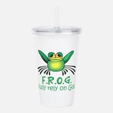 FULLY RELY ON GOD Acrylic Double-wall Tumbler