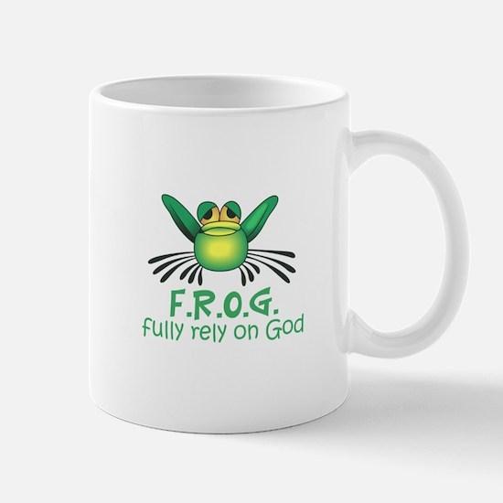 FULLY RELY ON GOD Mugs