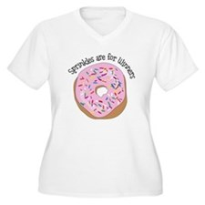 Sprinkles Are For Winners Plus Size T-Shirt