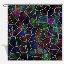 Mosaic LORA multicolor Shower Curtain