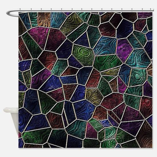 Mosaic LORA multicolor Shower Curtain