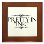 Pretty in Ink Framed Tile