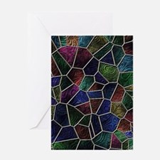 Mosaic LORA multicolor Greeting Cards