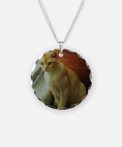Red Burmese Cat Necklace