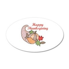 HAPPY THANKSGIVING Wall Decal
