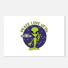 PEACE LOVE UFOS Postcards (Package of 8)