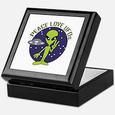 PEACE LOVE UFOS Keepsake Box