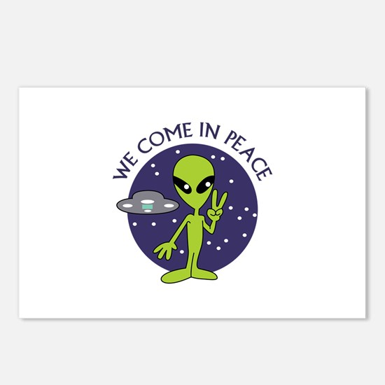 WE COME IN PEACE Postcards (Package of 8)