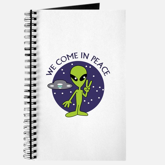 WE COME IN PEACE Journal
