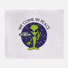 WE COME IN PEACE Throw Blanket