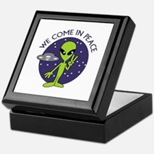 WE COME IN PEACE Keepsake Box