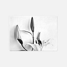 Flowers Lilium 5'x7'Area Rug