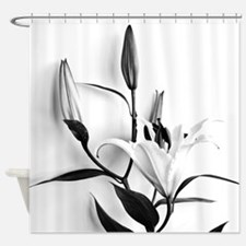Flowers Lilium Shower Curtain