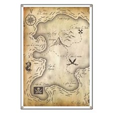Pirate Map Banner
